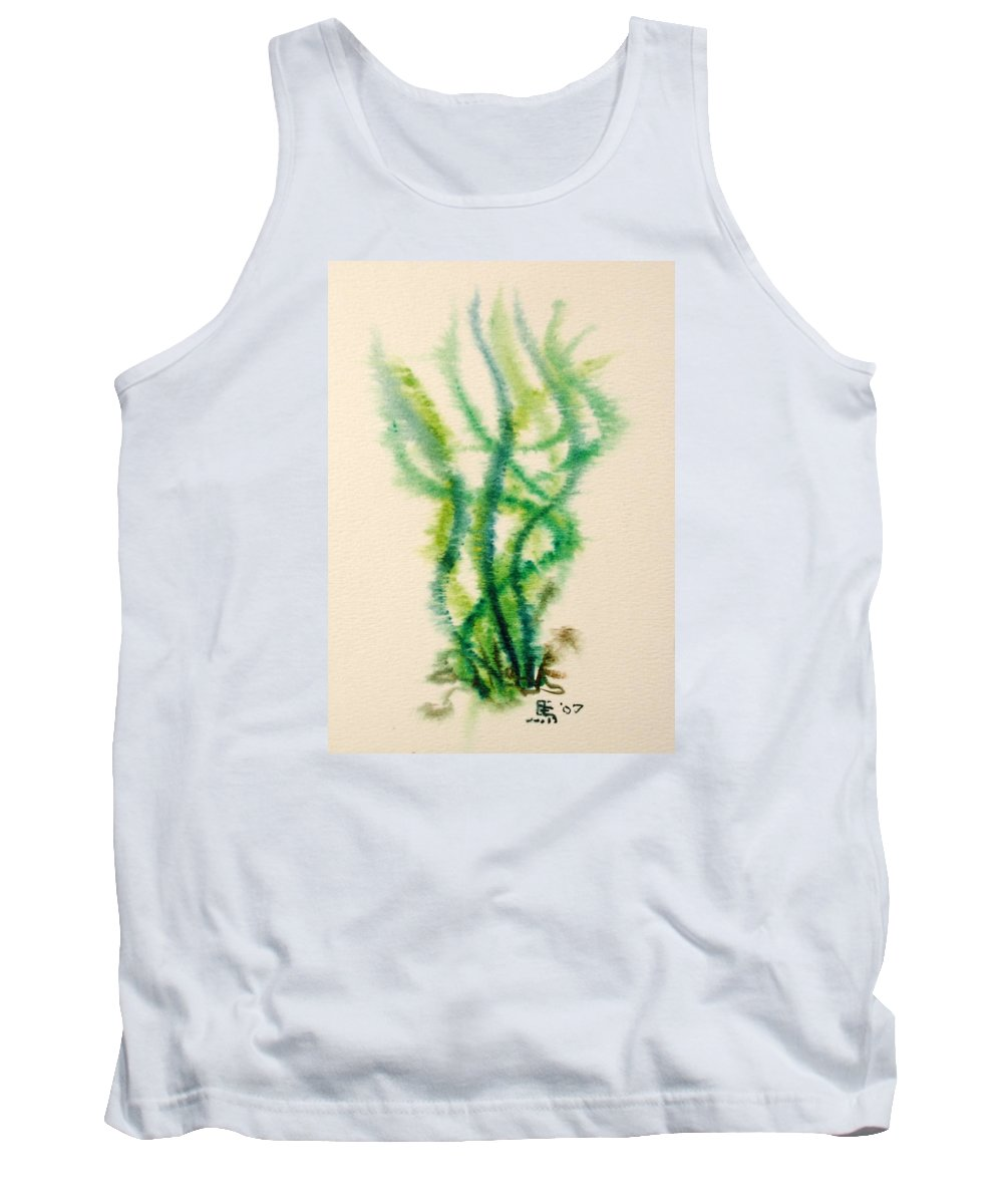 Sea Tank Top featuring the painting Sea Bed One by Dave Martsolf