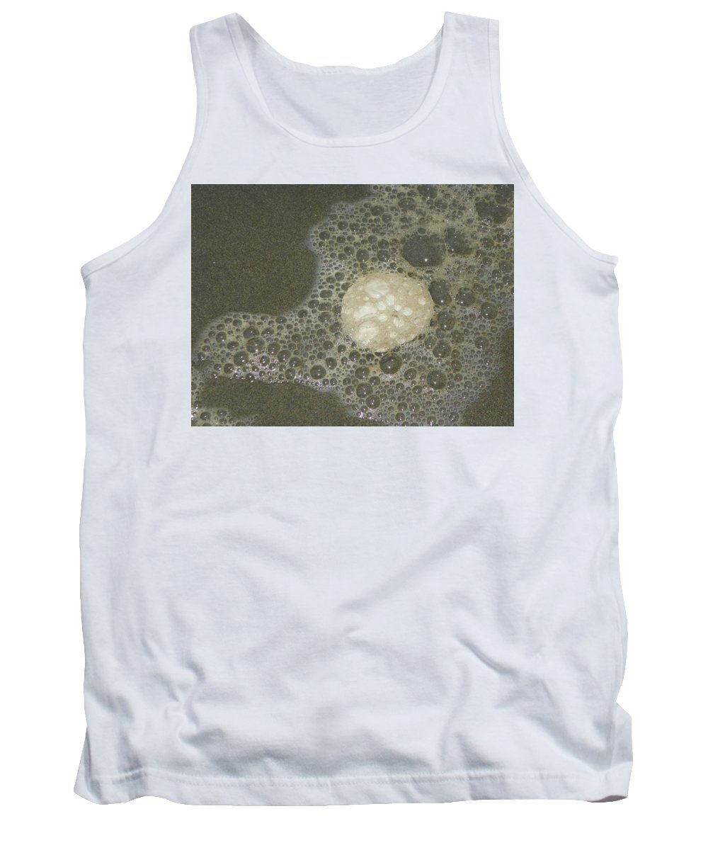 Photography Tank Top featuring the photograph Sea Foam Over Sand Dollars by Laurie Kidd