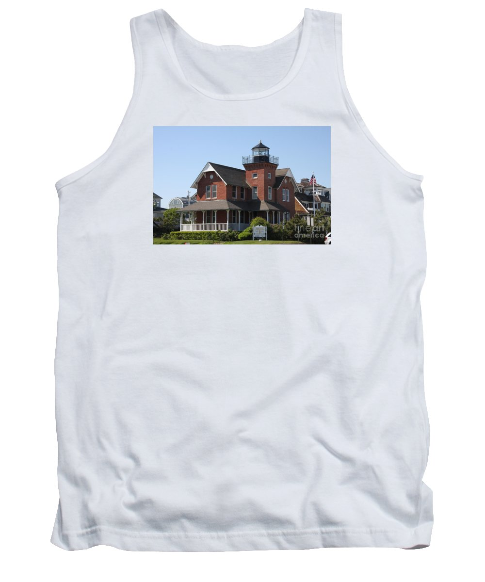 Lighthouse Tank Top featuring the photograph Sea Girt Lighthouse - N J by Christiane Schulze Art And Photography