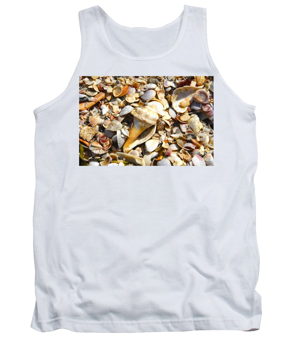 Florida Tank Top featuring the photograph Sea Shells by David Lee Thompson