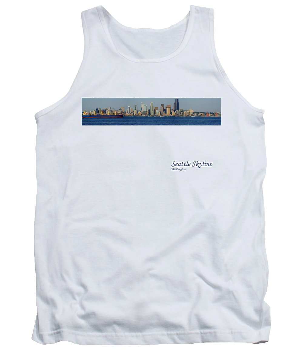 Seattle Tank Top featuring the photograph Seattle Skyline From Alki by Karen Ulvestad
