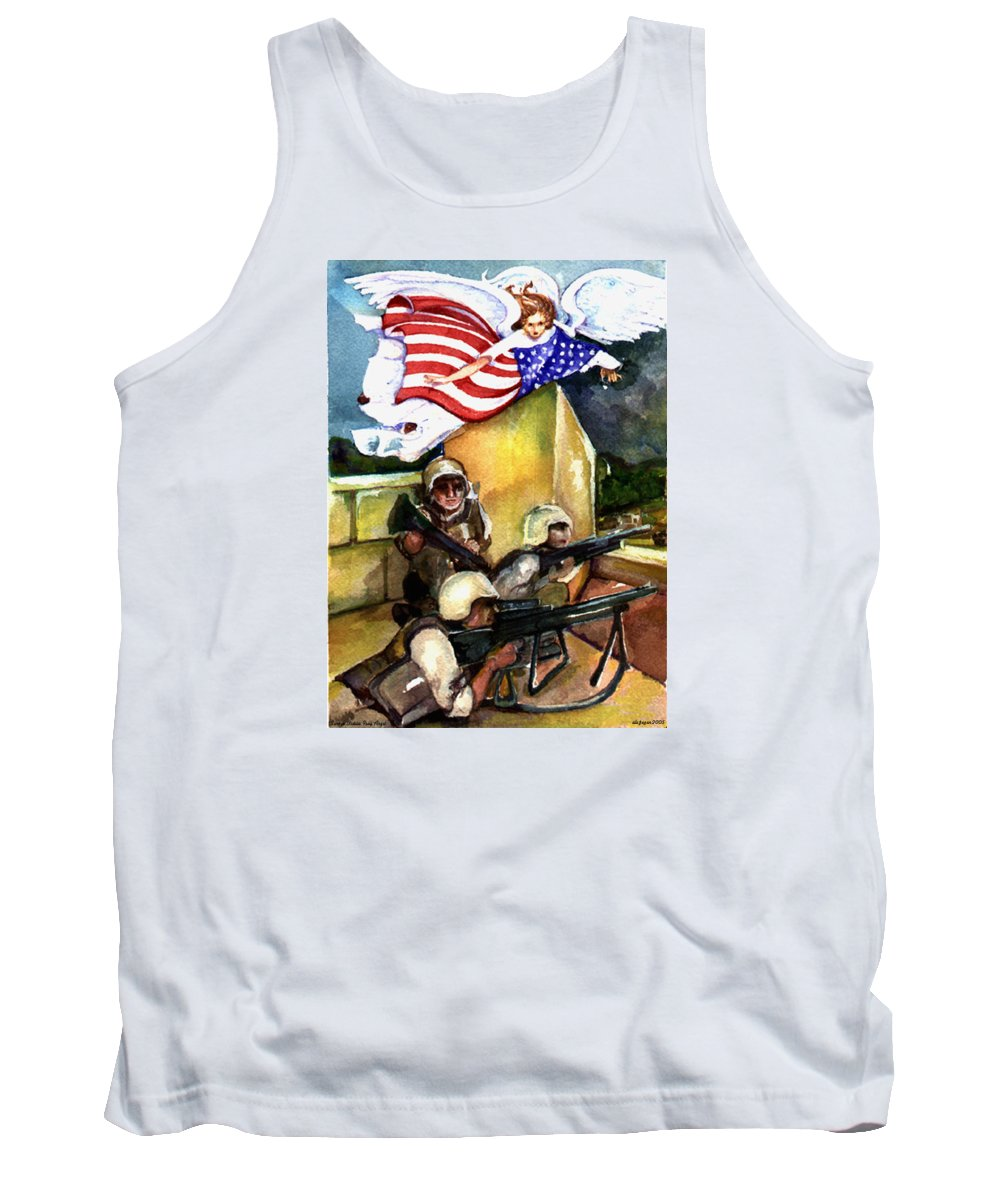 Elle Fagan Tank Top featuring the painting Semper Fideles - Iraq by Elle Smith Fagan