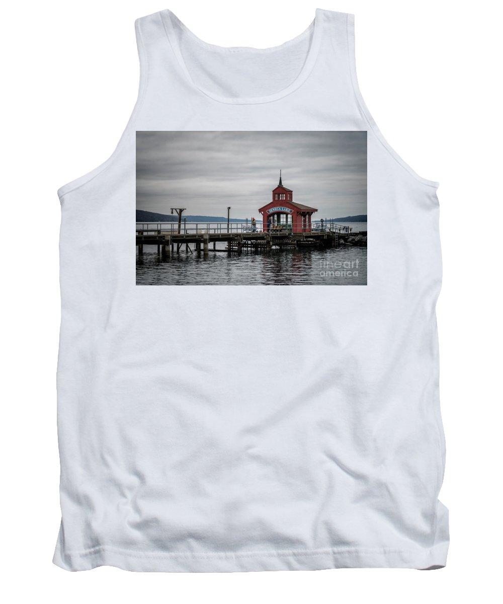 Pier Tank Top featuring the photograph Seneca Lake Pier by Joann Long