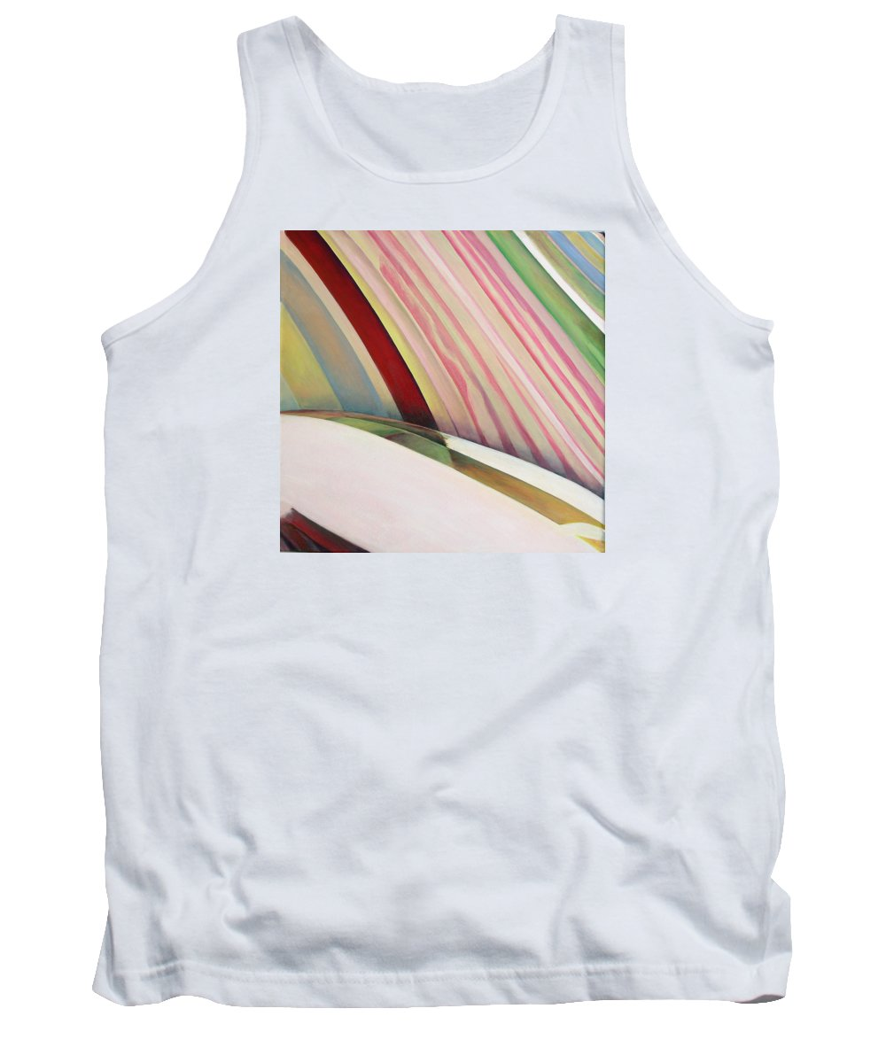 Abstract Tank Top featuring the painting Sens 1 by Muriel Dolemieux