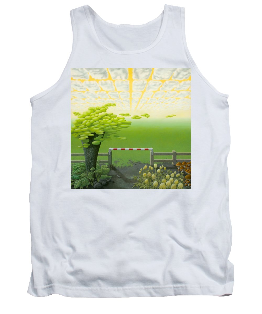 Tree Tank Top featuring the painting September by Patricia Van Lubeck
