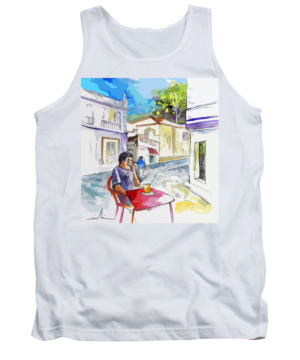 Portugal Paintings Tank Top featuring the painting Serpa Portugal 05 Bis by Miki De Goodaboom