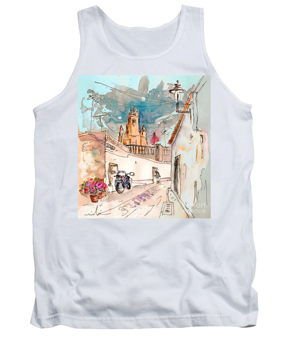 Portugal Paintings Tank Top featuring the painting Serpa Portugal 22 by Miki De Goodaboom