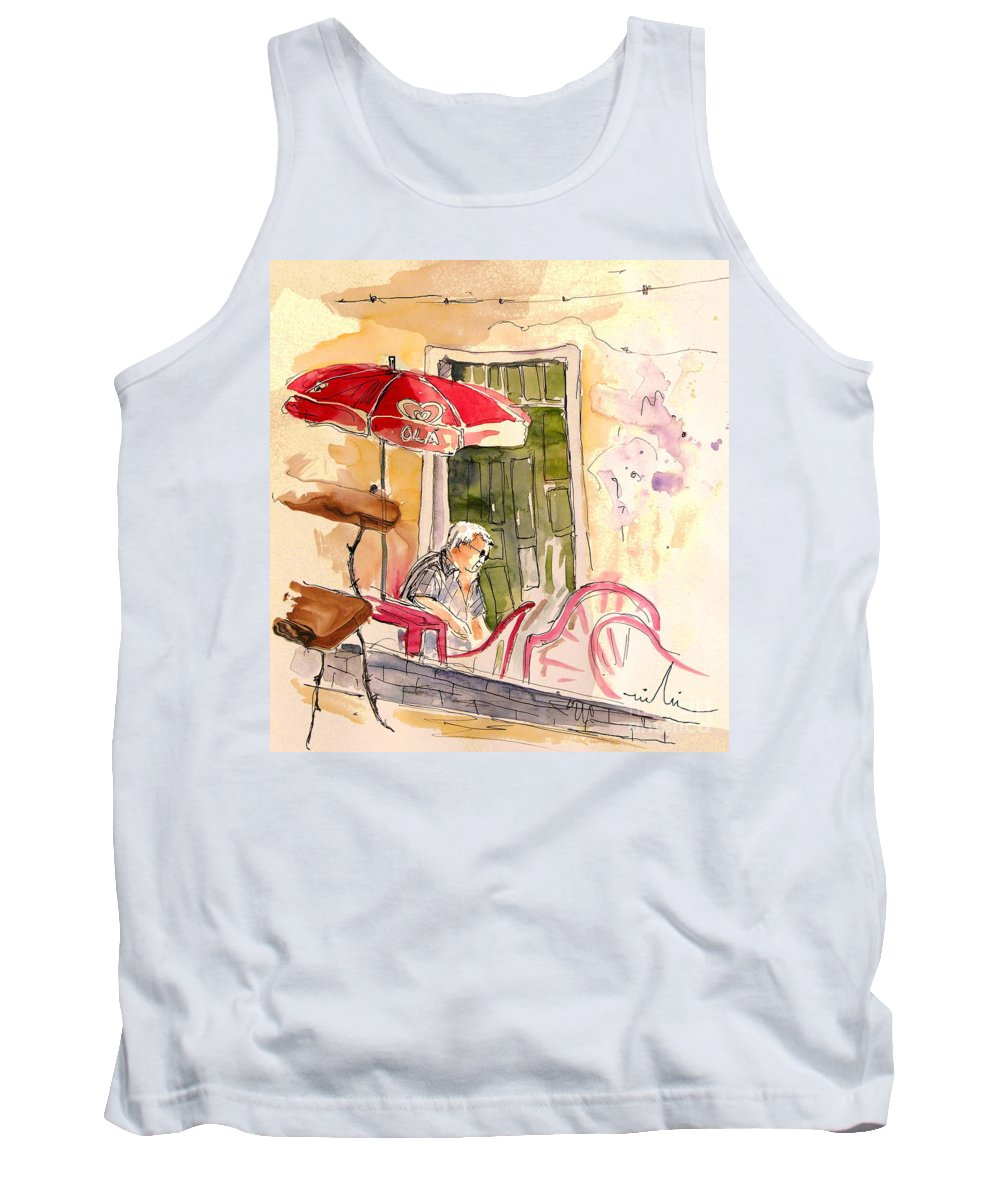 Portugal Paintings Tank Top featuring the painting Serpa Portugal 23 by Miki De Goodaboom