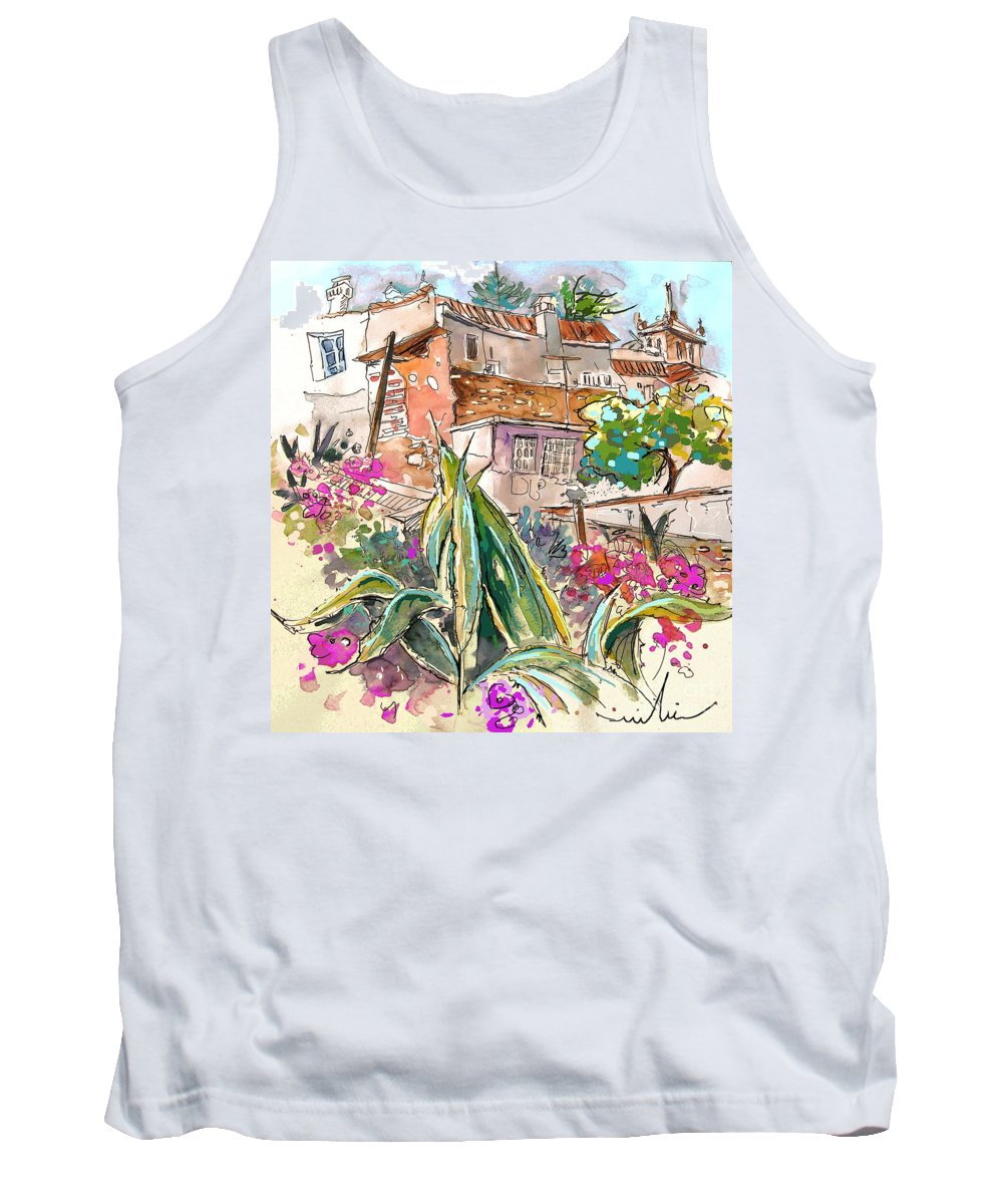 Portugal Paintings Tank Top featuring the painting Serpa Portugal 24 by Miki De Goodaboom