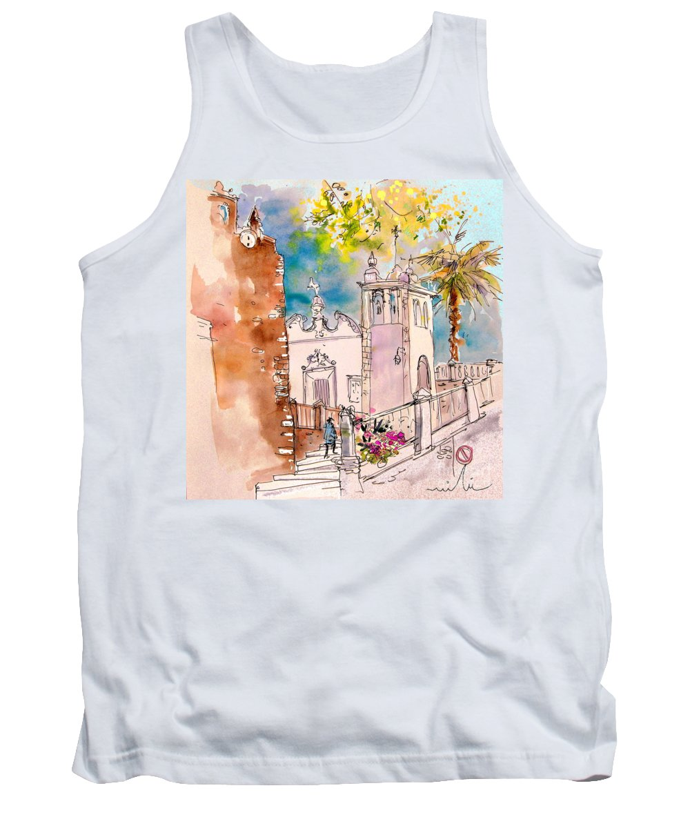 Water Colour Painting Serpa Portugal Tank Top featuring the painting Serpa Portugal 31 by Miki De Goodaboom