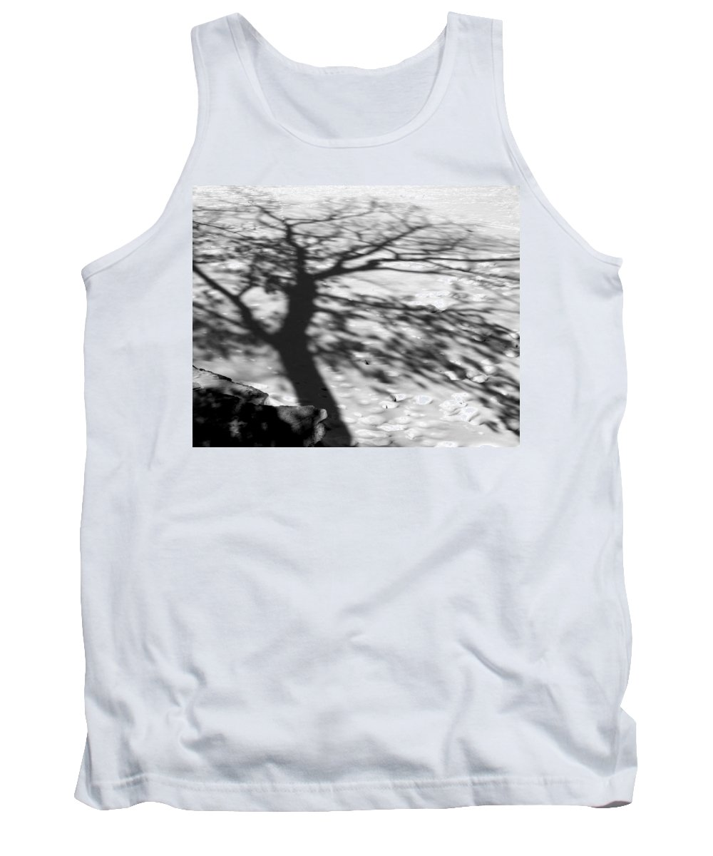 Shadow Tank Top featuring the photograph Shadow Tree Herrick Lake Naperville Illinois by Michael Bessler