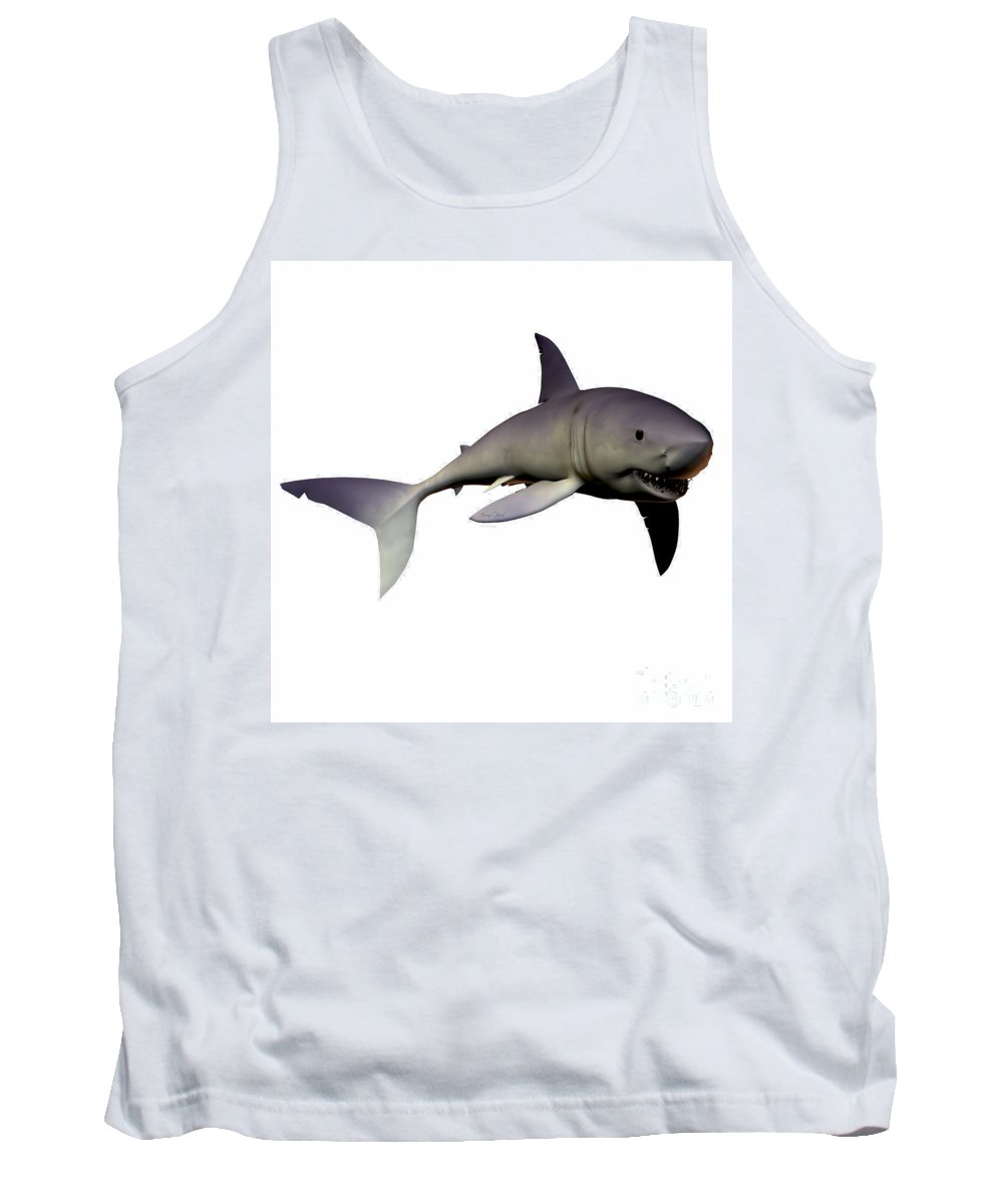 Mako Shark Tank Top featuring the painting Shark by Corey Ford