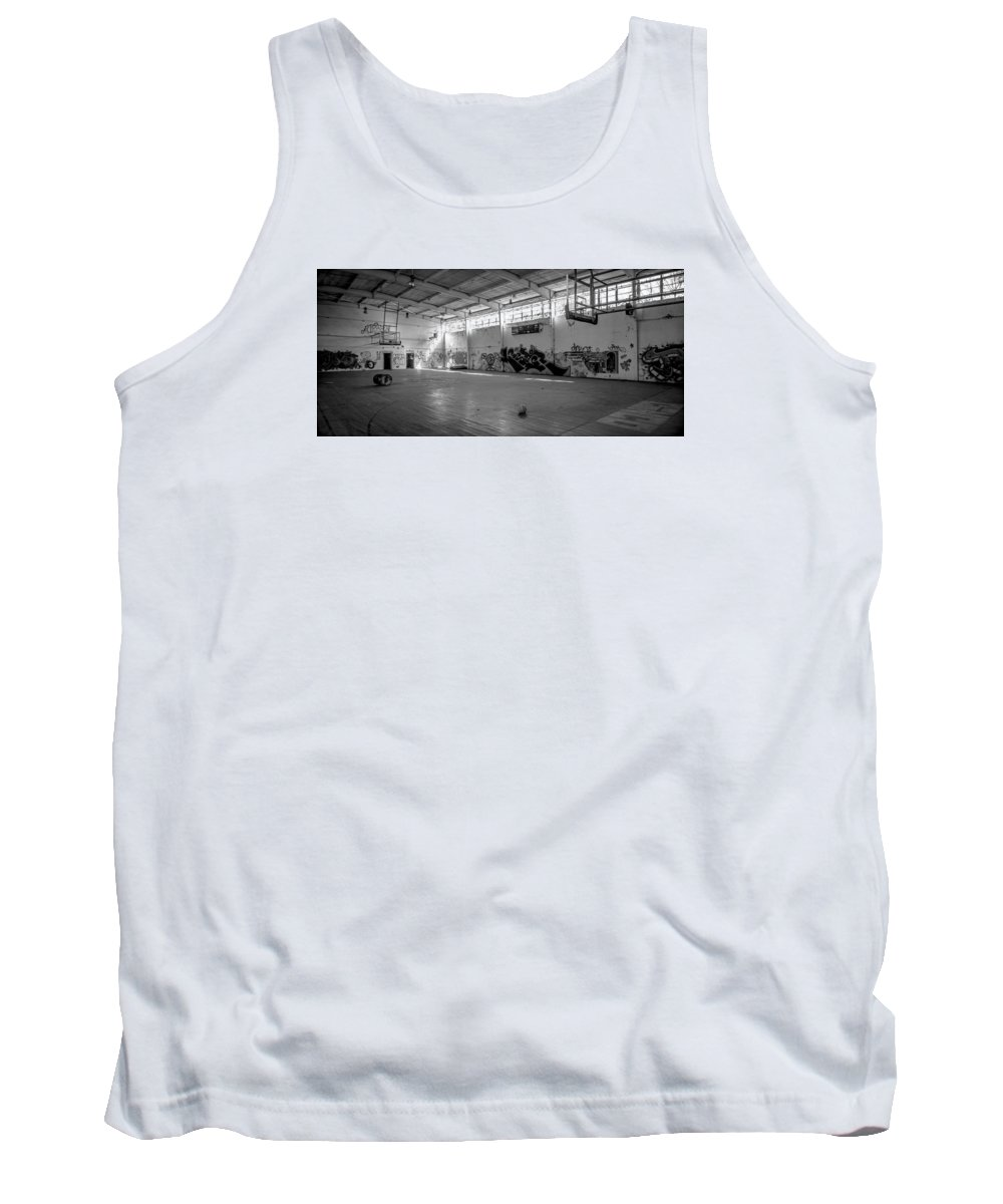 Abandoned Tank Top featuring the photograph Shooters Alley by Mike Dunn