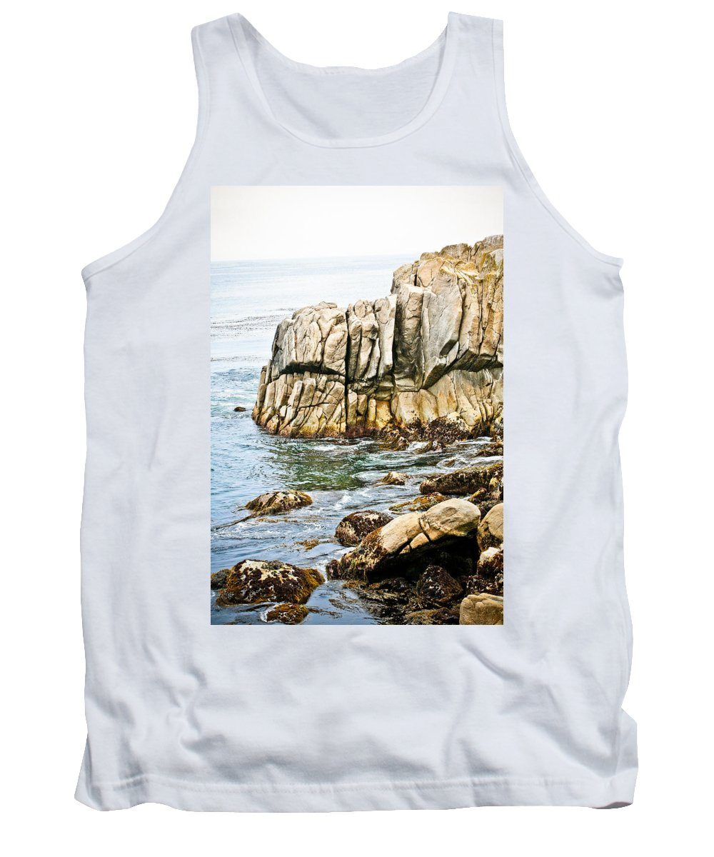 Pebble Beach Tank Top featuring the photograph Shores Of Pebble Beach by Marilyn Hunt