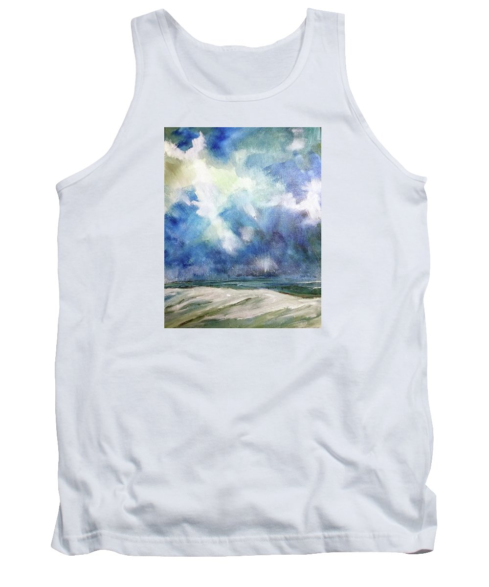 Ocean Tank Top featuring the painting Siege Of November by Mark Szwabo