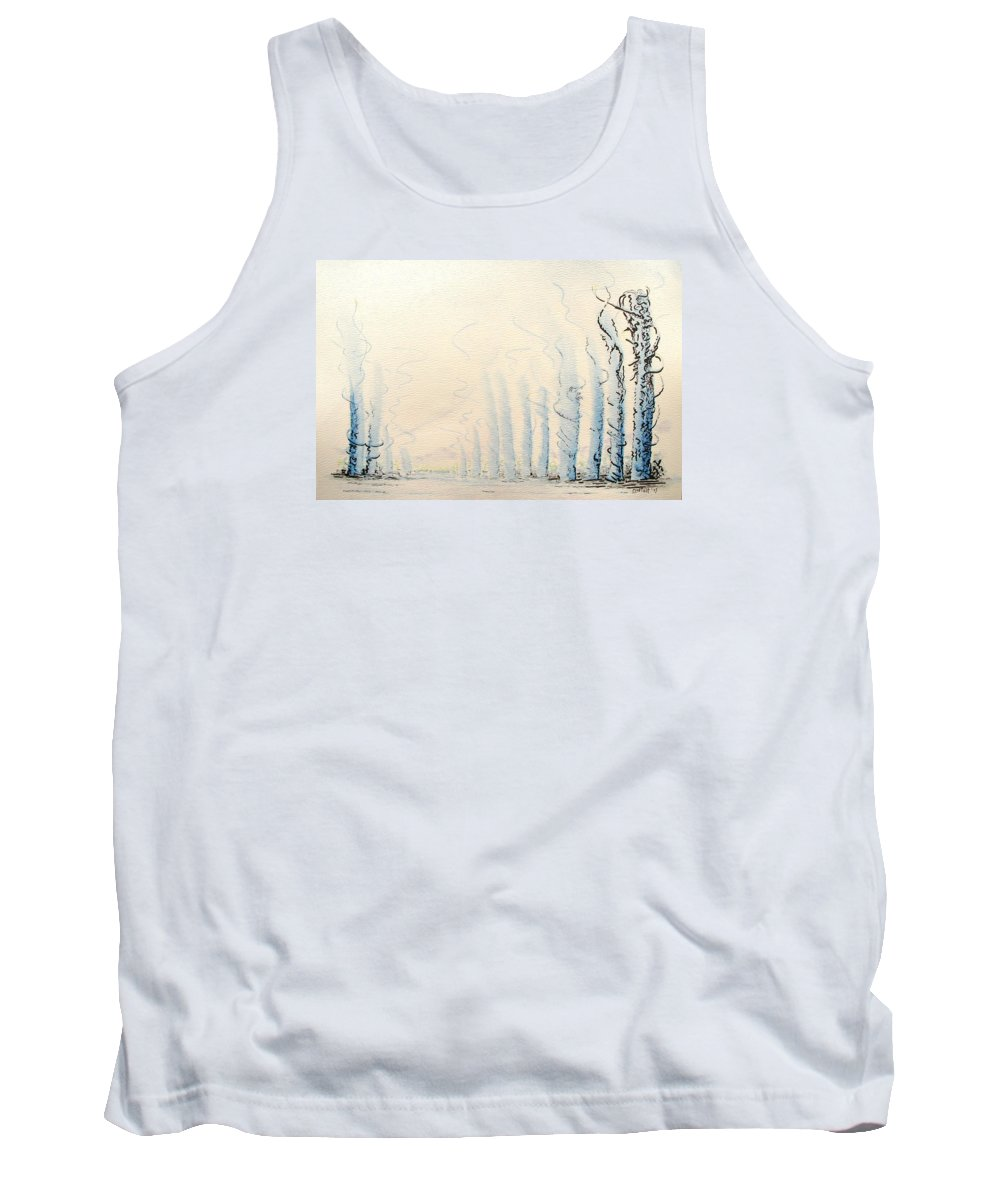 Watercolor Tank Top featuring the painting Signals by Dave Martsolf