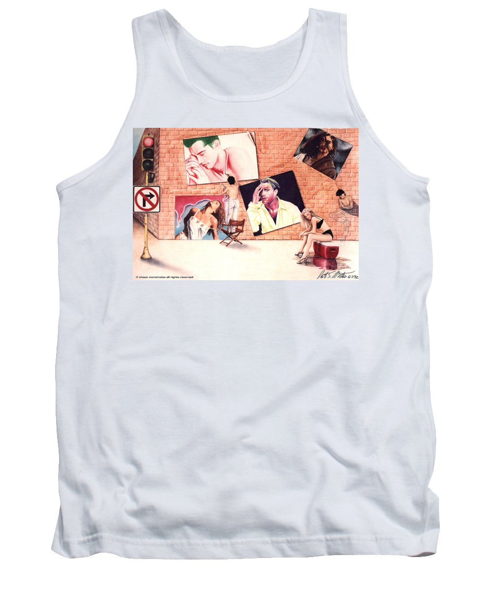 Self Portriat Tank Top featuring the painting Signs A Self Portait by Shaun McNicholas