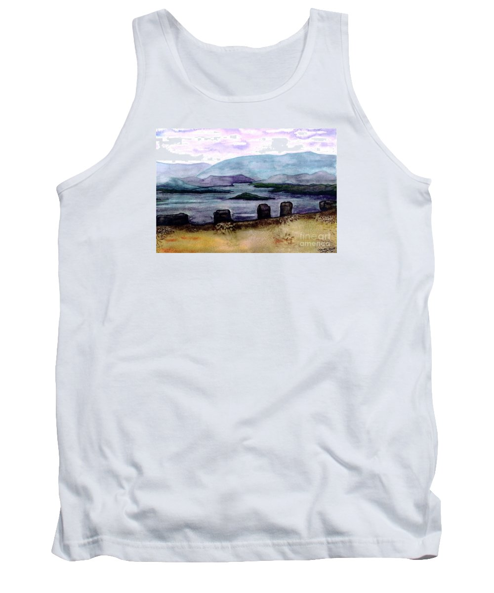 Original Painting Tank Top featuring the painting Silent Sentinels by Patricia Griffin Brett