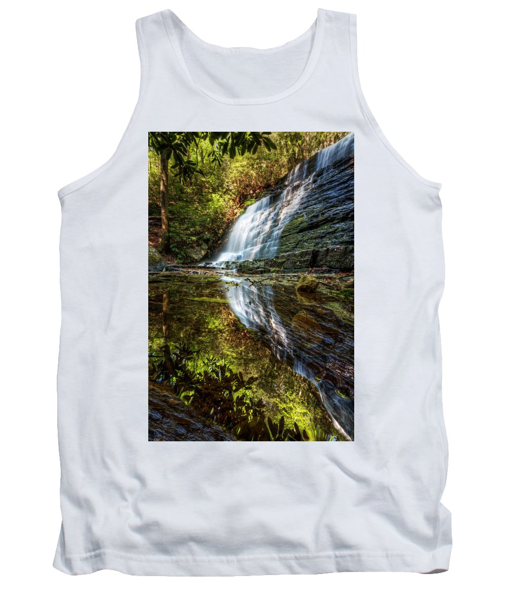 Appalachia Tank Top featuring the photograph Silky Reflections by Debra and Dave Vanderlaan