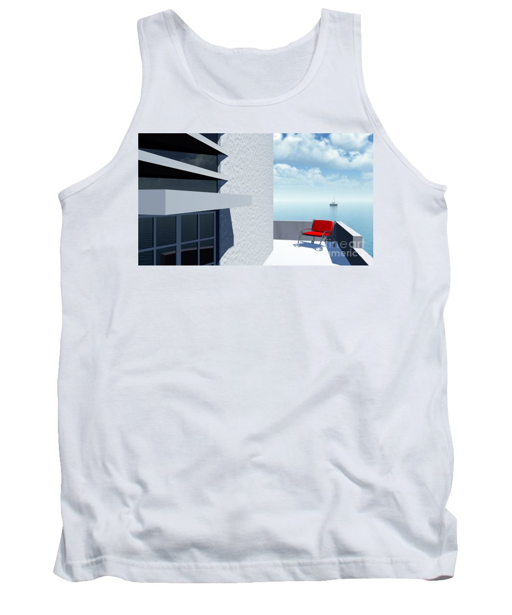 Contemporary Tank Top featuring the digital art Simple Pleasures by Richard Rizzo