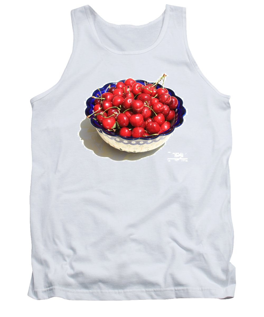 Cherries Tank Top featuring the photograph Simply A Bowl Of Cherries by Carol Groenen