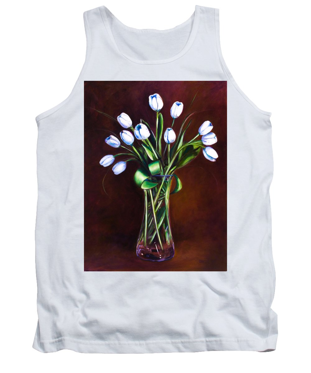 Shannon Grissom Tank Top featuring the painting Simply Tulips by Shannon Grissom