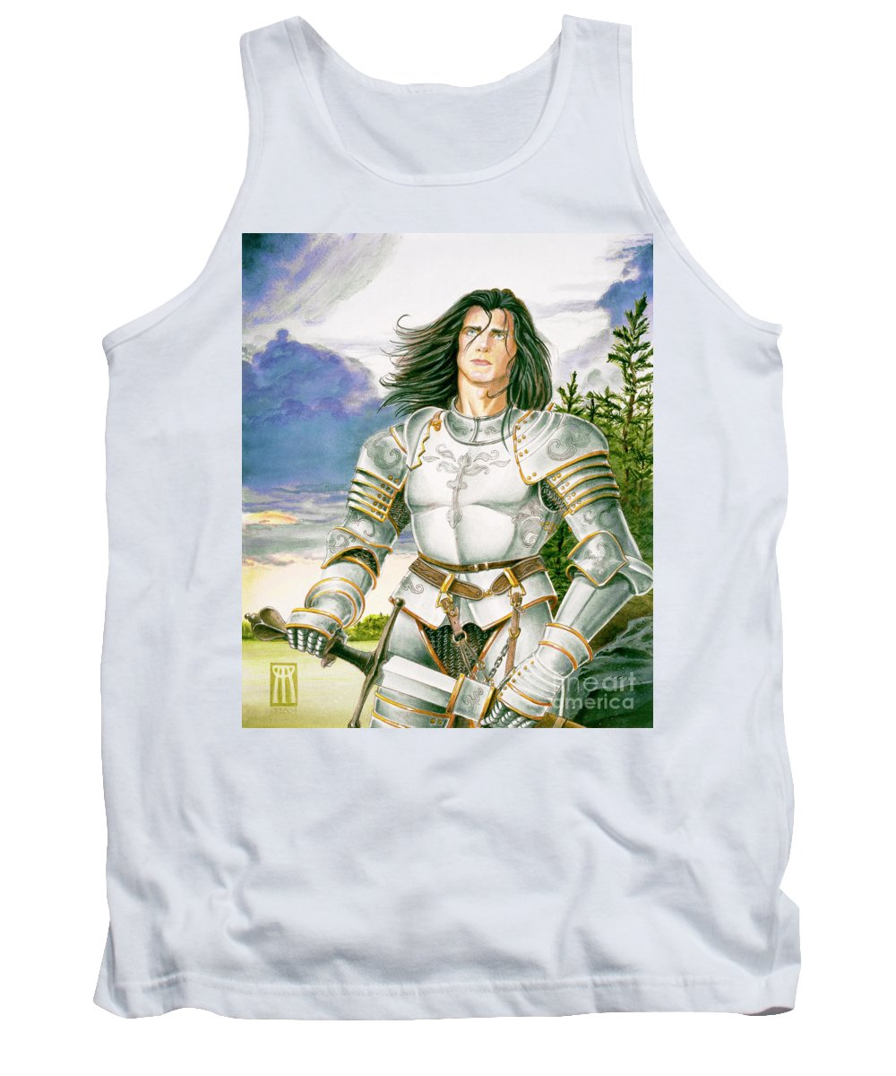 Swords Tank Top featuring the painting Sir Lancelot by Melissa A Benson