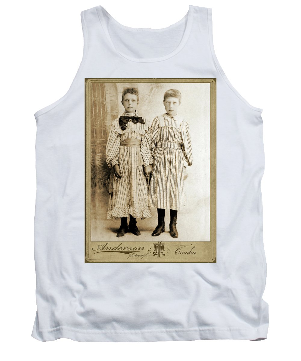 Portraits Tank Top featuring the photograph Sisters by John Anderson