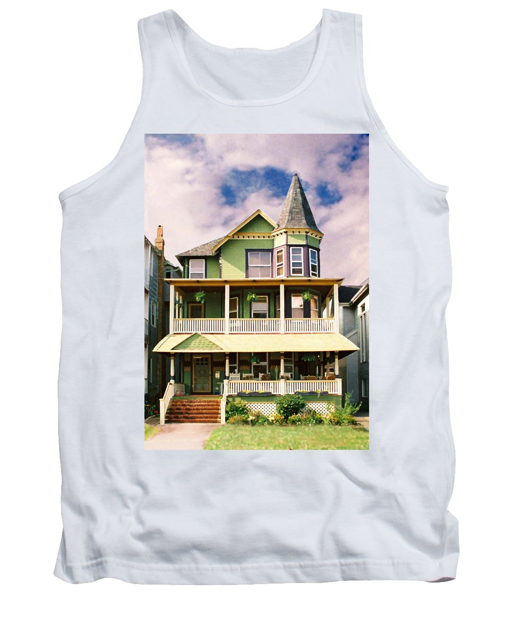 Archtiecture Tank Top featuring the photograph Sisters Panel 1 Of Triptych by Steve Karol