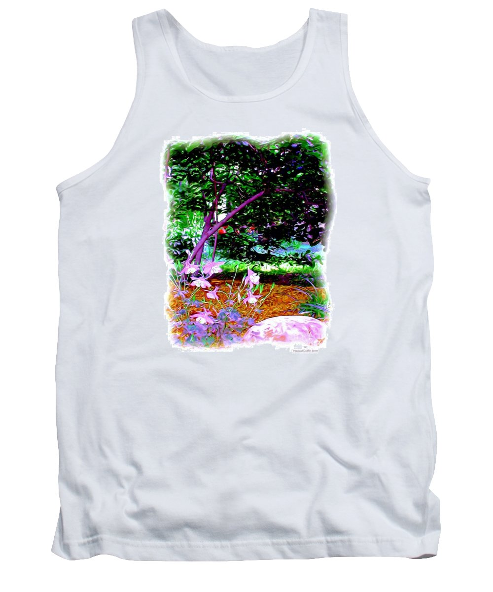 Fine Art Tank Top featuring the painting Sitting In The Shade by Patricia Griffin Brett