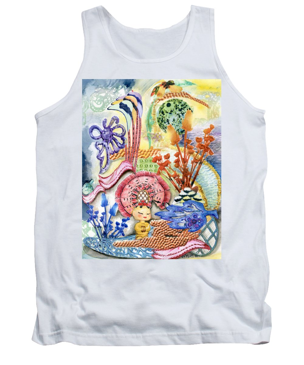 Bright Tank Top featuring the painting Sitting Pretty by Valerie Meotti