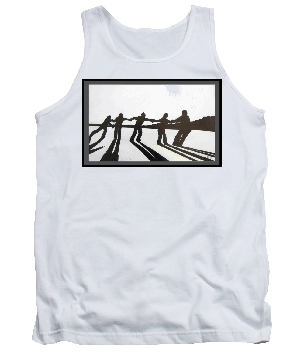 Skaters Tank Top featuring the drawing Skaters by Dragica Micki Fortuna