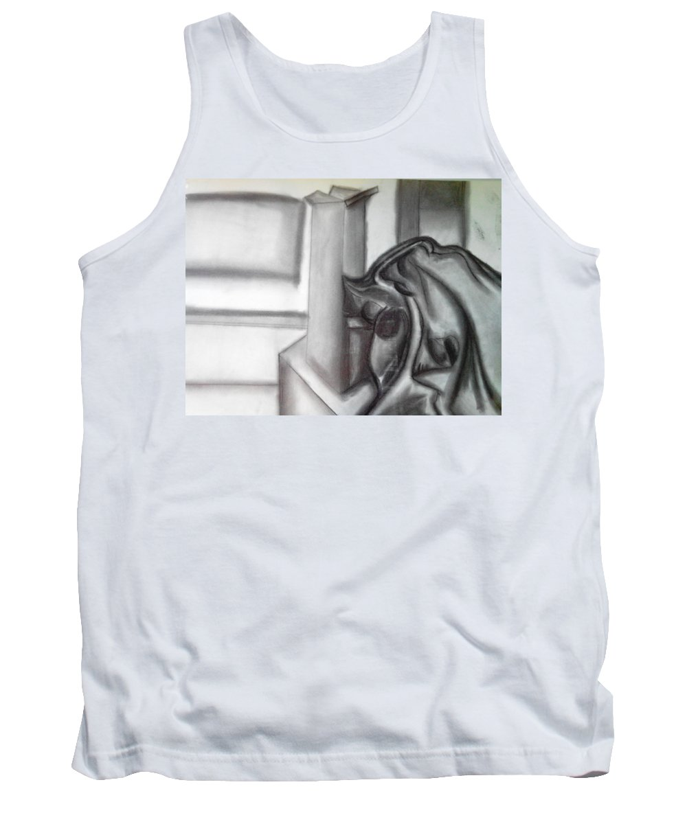 Charcoal Tank Top featuring the pastel Sketchy by Adam Norman