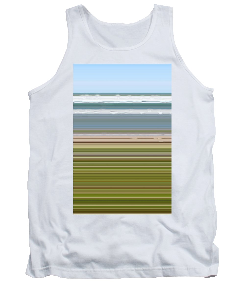 Lake Tank Top featuring the digital art Sky Water Earth Grass by Michelle Calkins