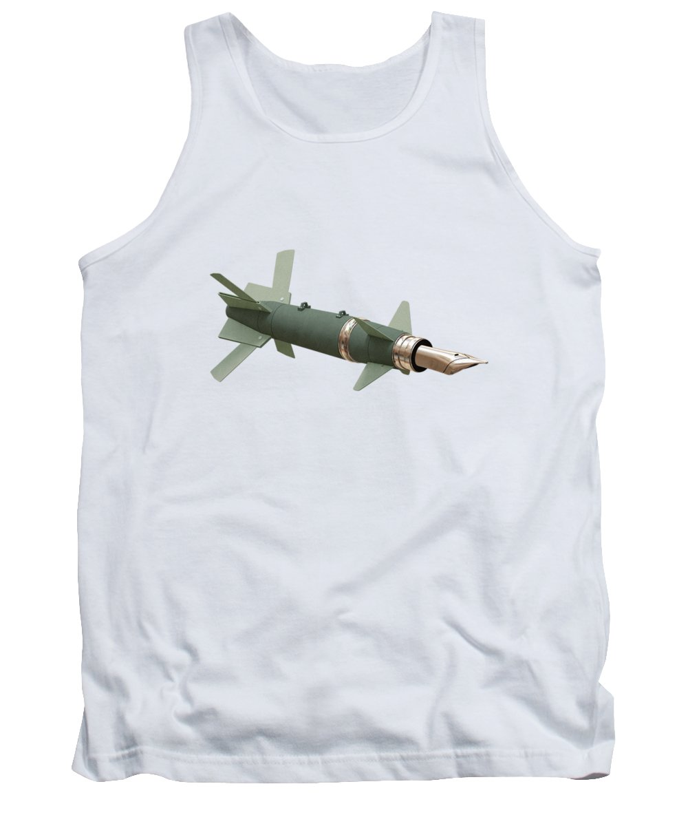 Missile Tank Top featuring the digital art Sky Writing by Nicholas Ely