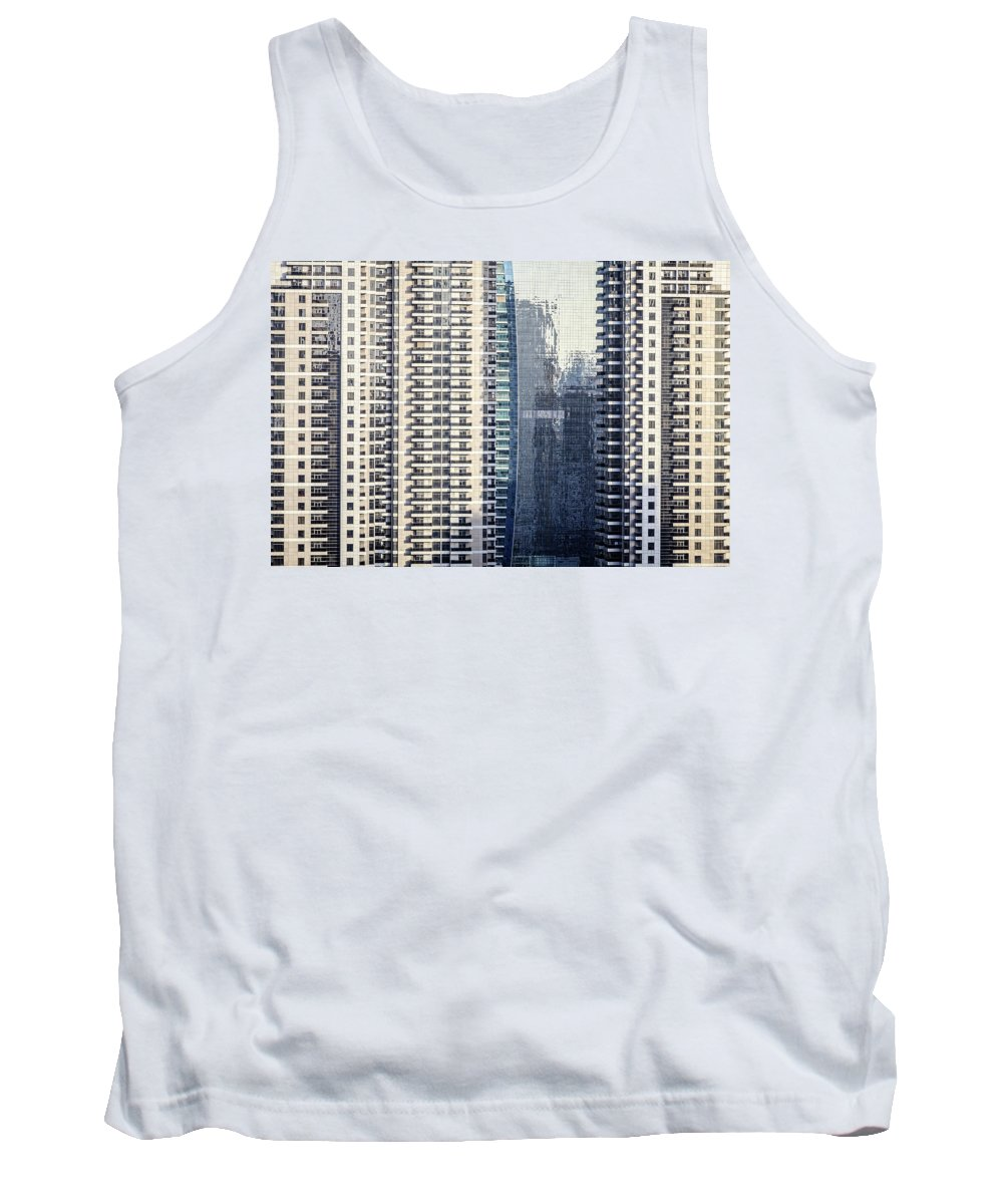 Dubai Tank Top featuring the photograph Skyscraper Windows by Alexey Stiop