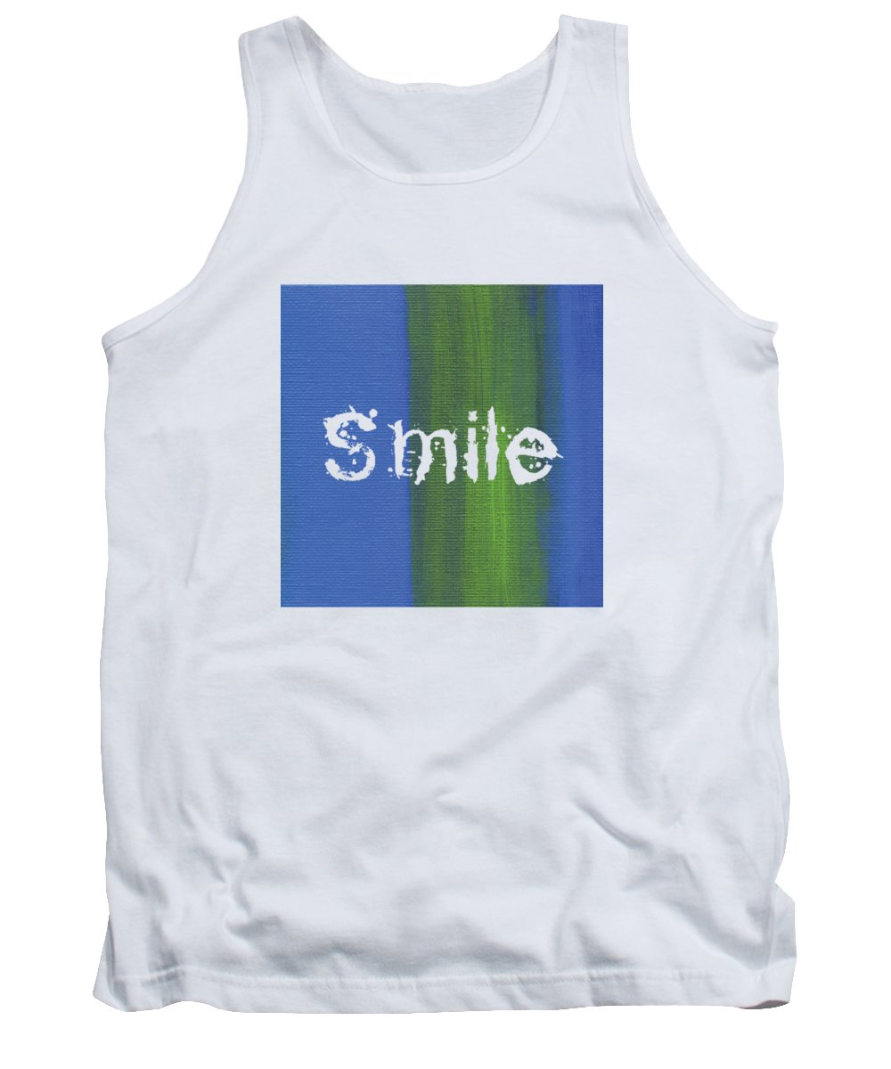 Love Tank Top featuring the mixed media Smile by Kathleen Wong