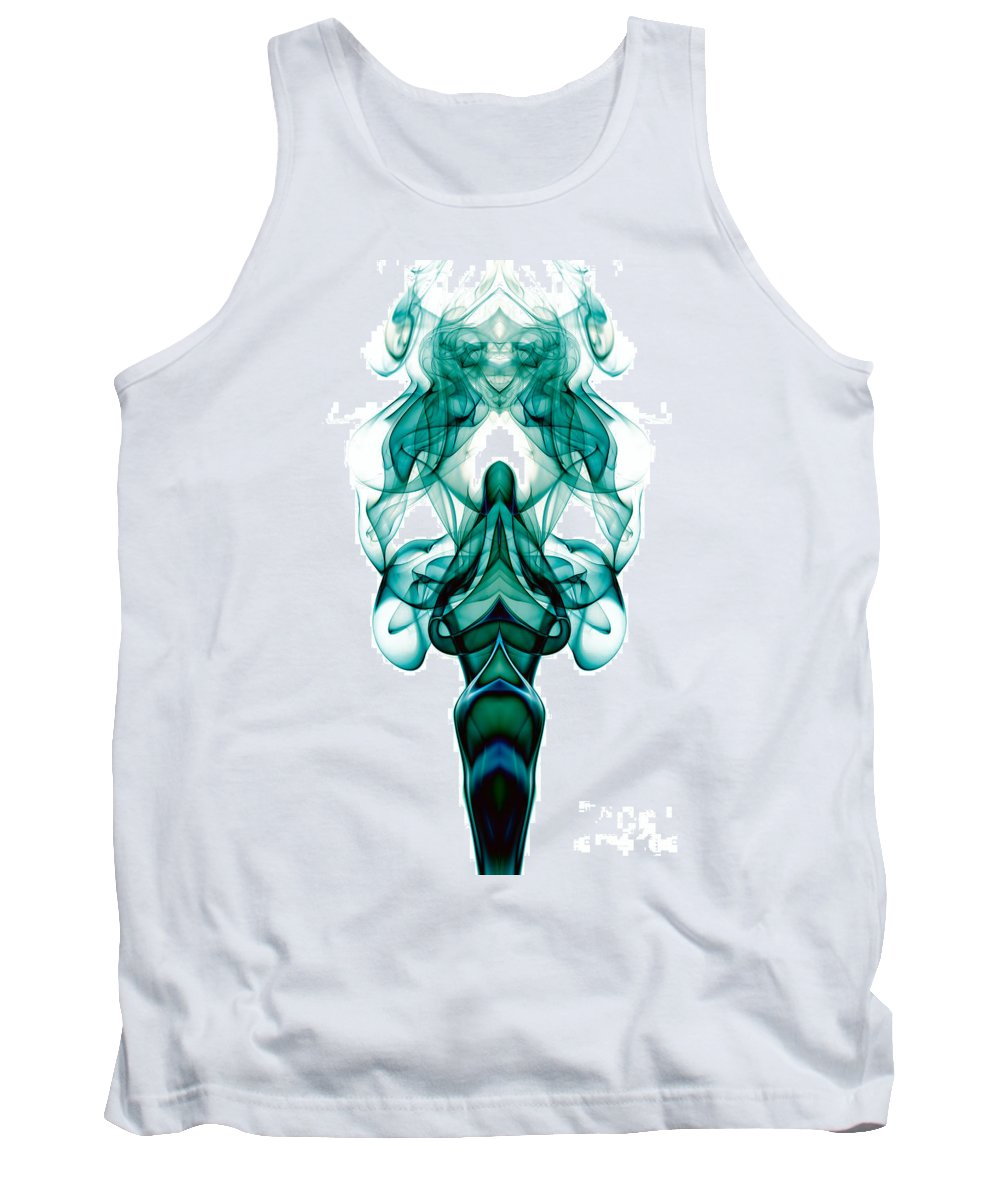 Abstract Tank Top featuring the photograph smoke XXIII ma1 by Joerg Lingnau