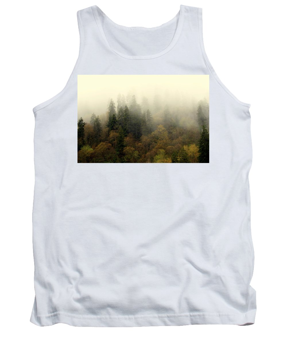 Fog Tank Top featuring the photograph Smoky Mount Horizontal by Marty Koch