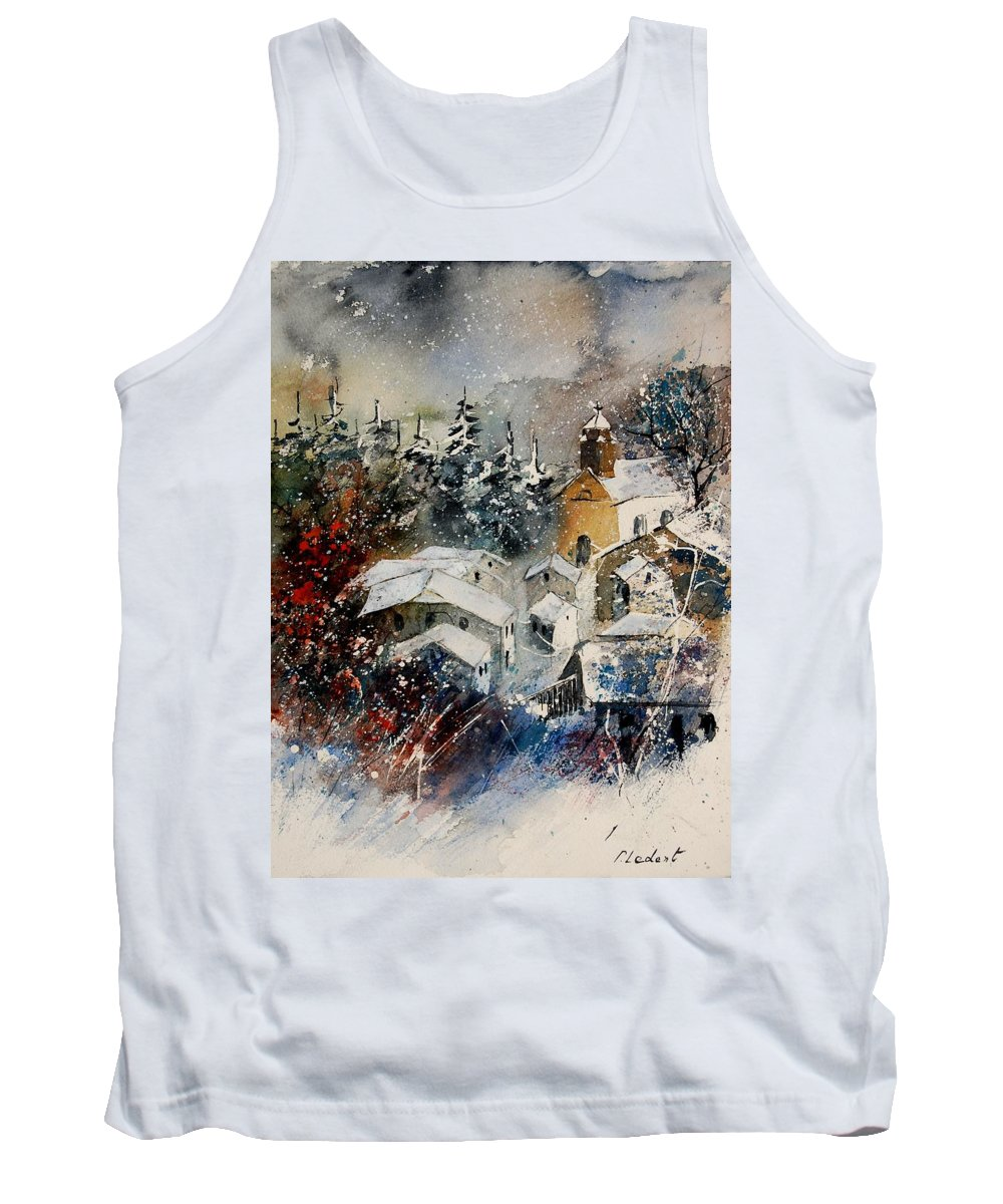 Landscape Tank Top featuring the painting Snon In Frahan by Pol Ledent