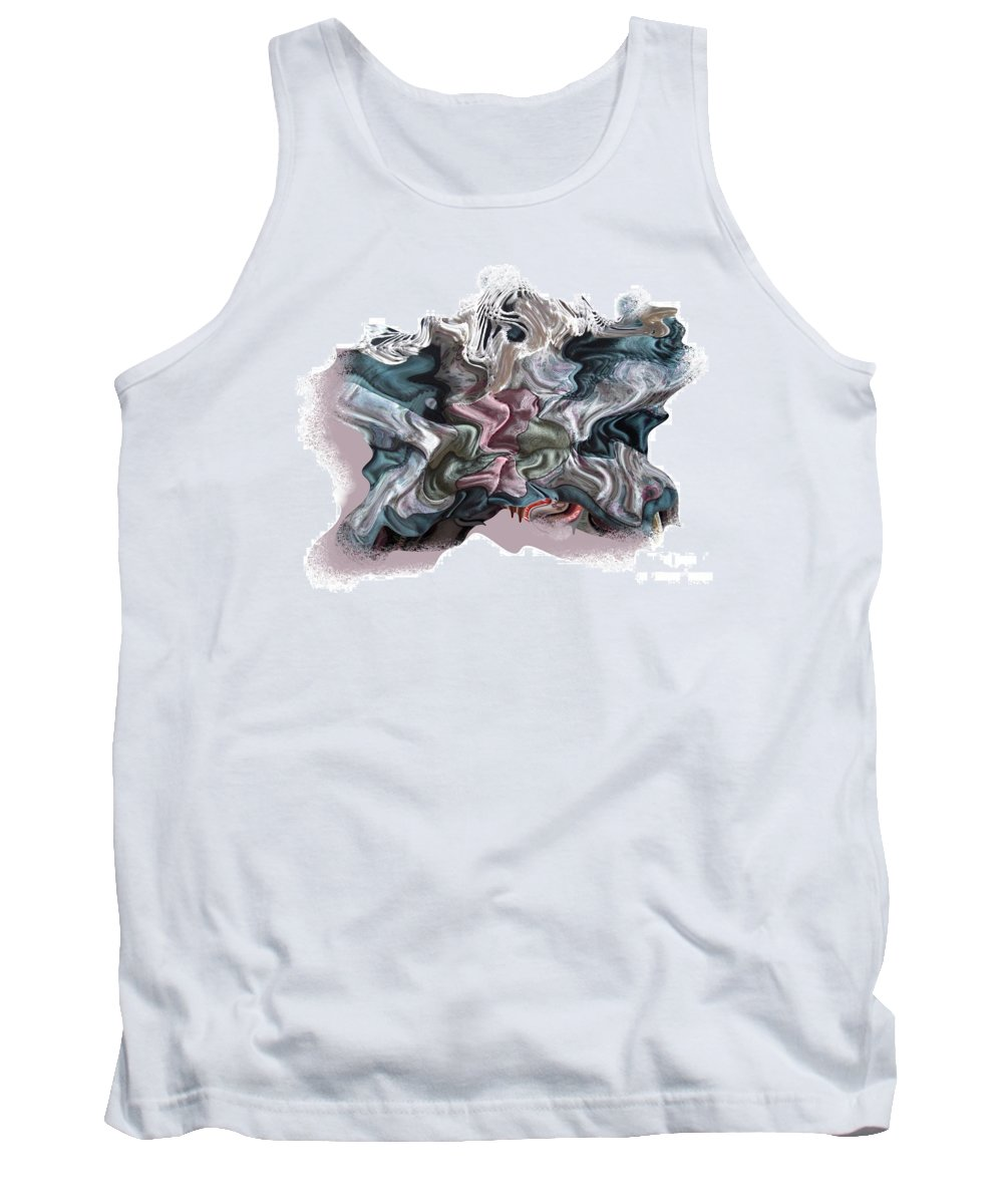 Abstract Tank Top featuring the digital art Snow Capped Cloth by Ron Bissett