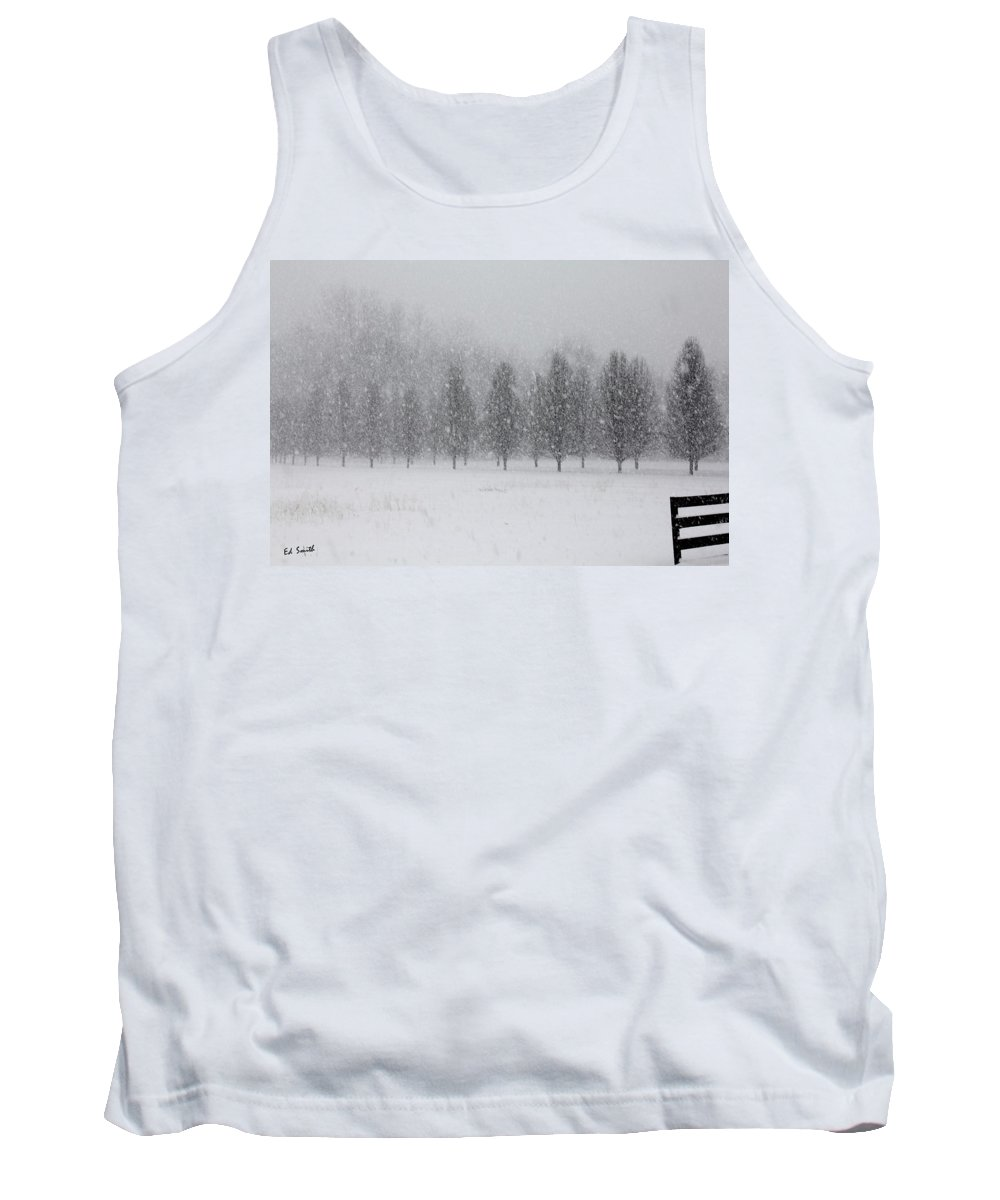 Snow Flakes Tank Top featuring the photograph Snow Flakes by Ed Smith