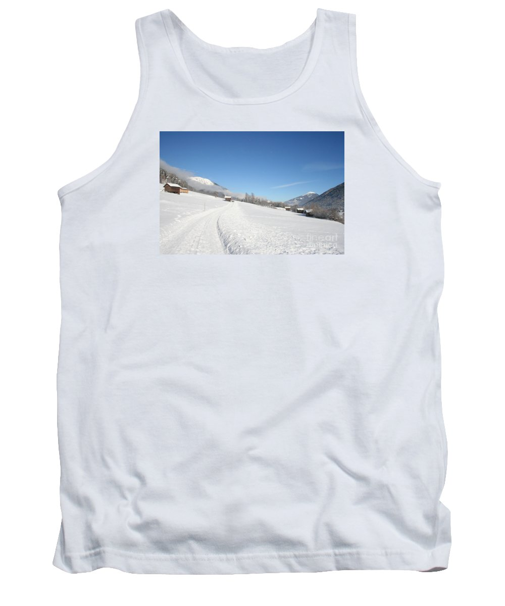 Field Tank Top featuring the photograph Snow White Field by Christiane Schulze Art And Photography