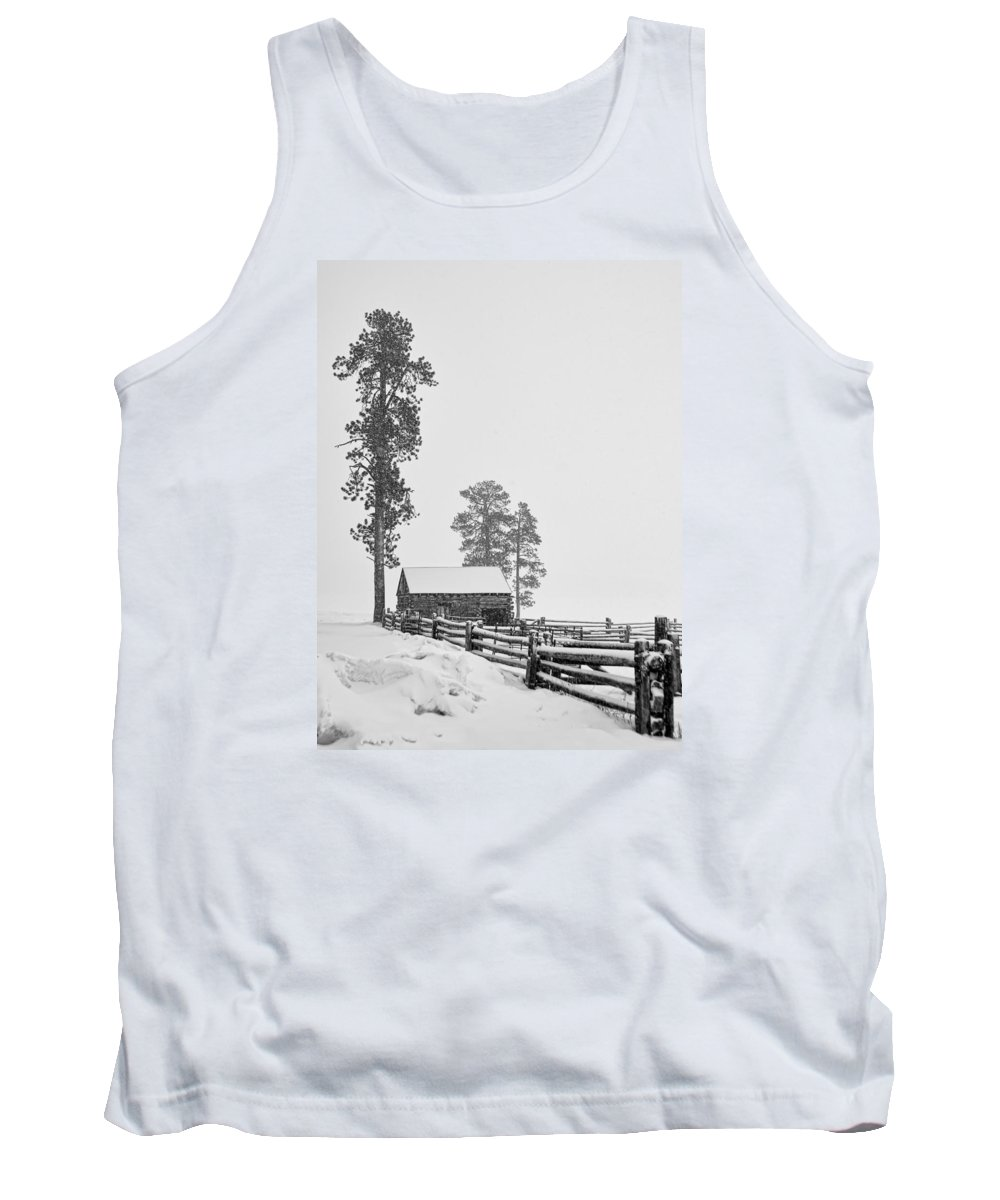 Southwest Tank Top featuring the photograph Snowbound by Alan Toepfer