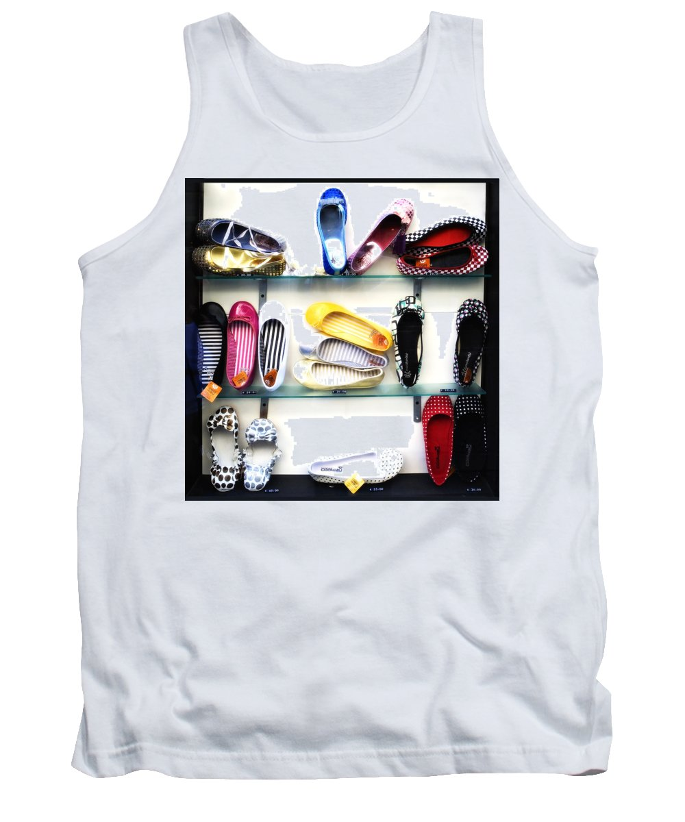 Shoes Tank Top featuring the photograph So Many Shoes... by Marilyn Hunt
