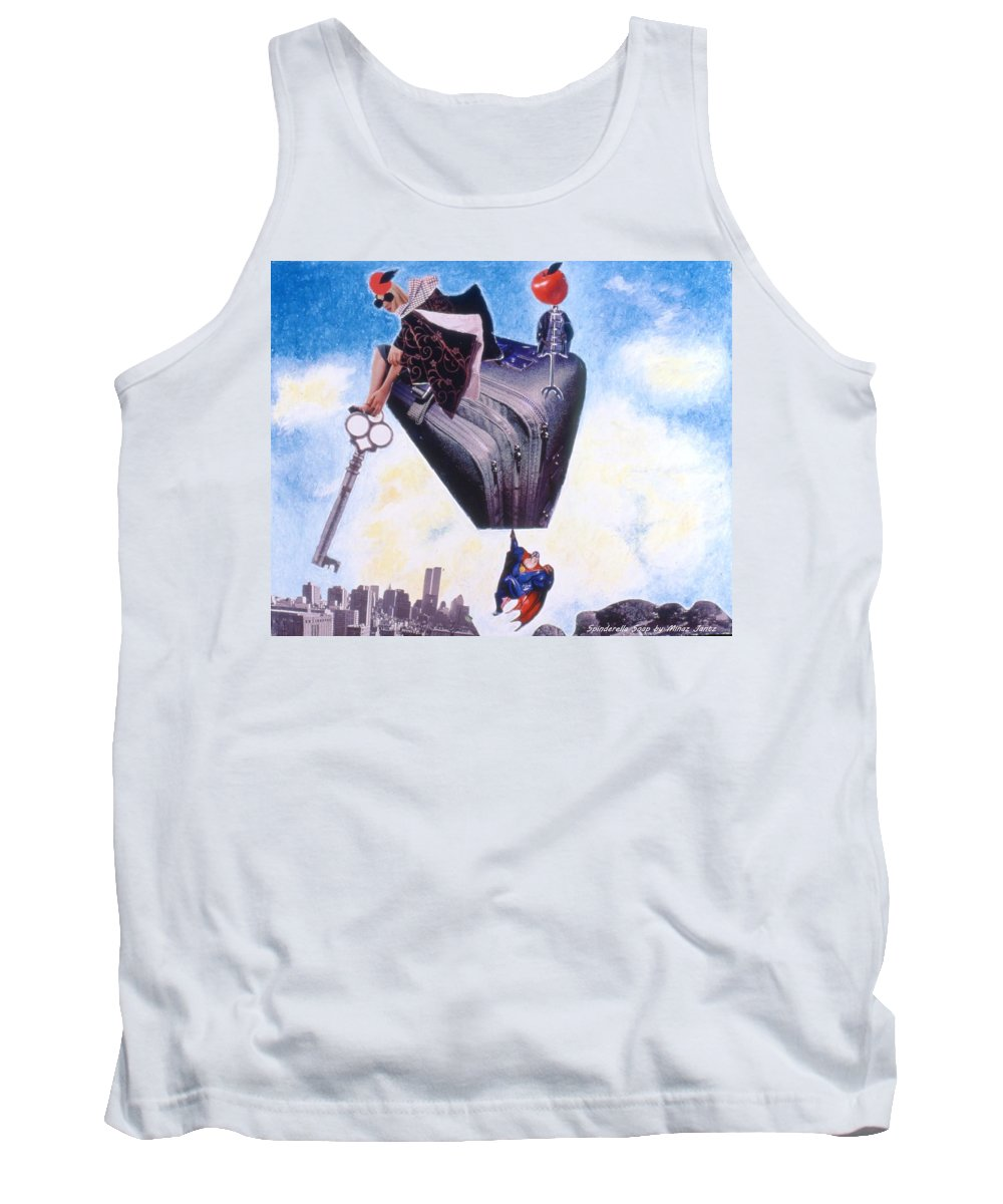 Twin Towers Tank Top featuring the drawing Soap Scene #11 Seek The Love Within by Minaz Jantz