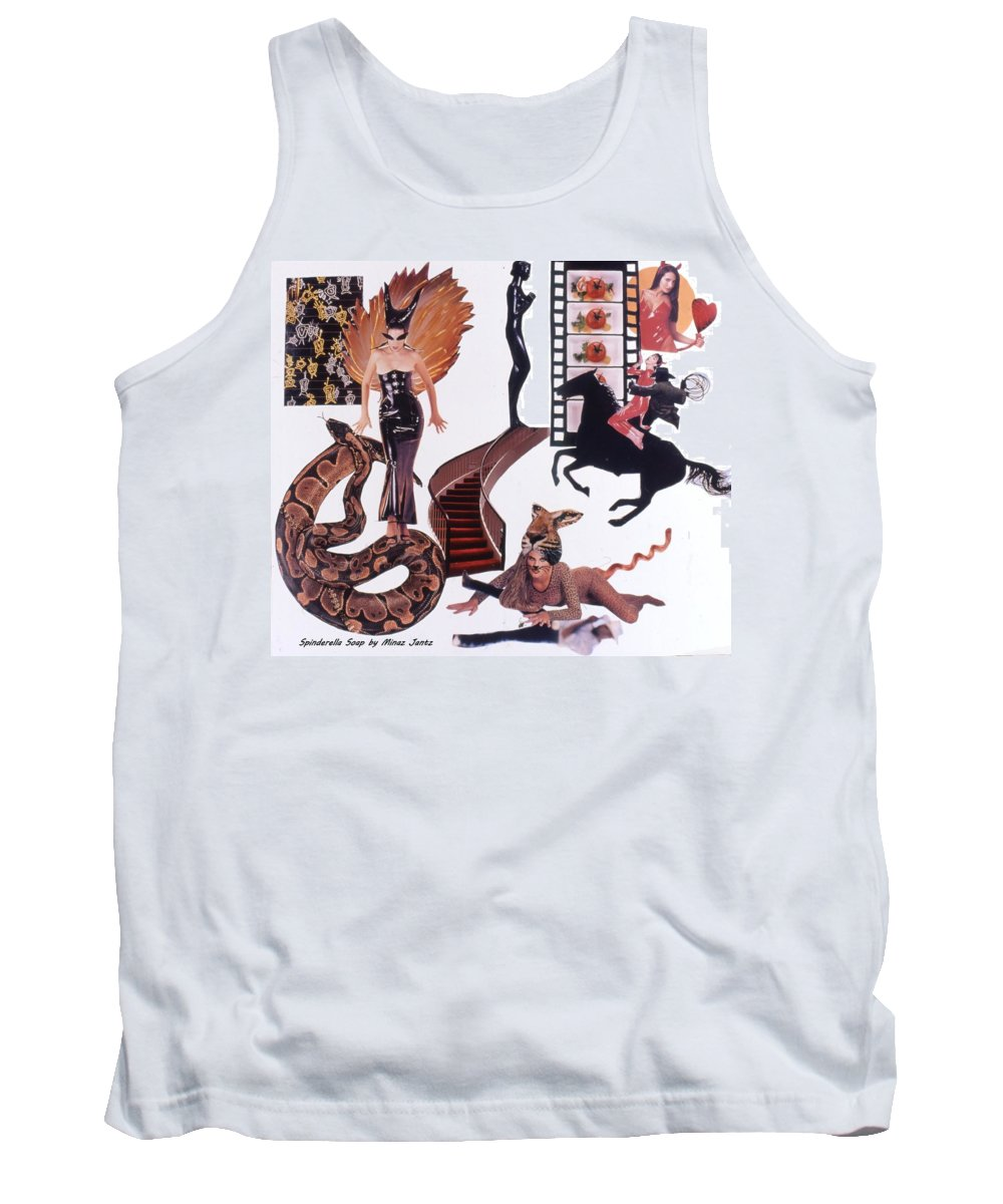 Boa Tank Top featuring the drawing Soap Scene #22 Lust In The Wind by Minaz Jantz