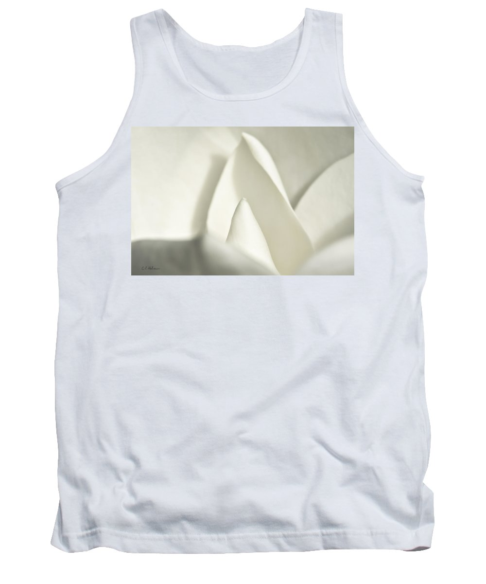 Magnolia Tank Top featuring the photograph Soft Magnolia by Christopher Holmes