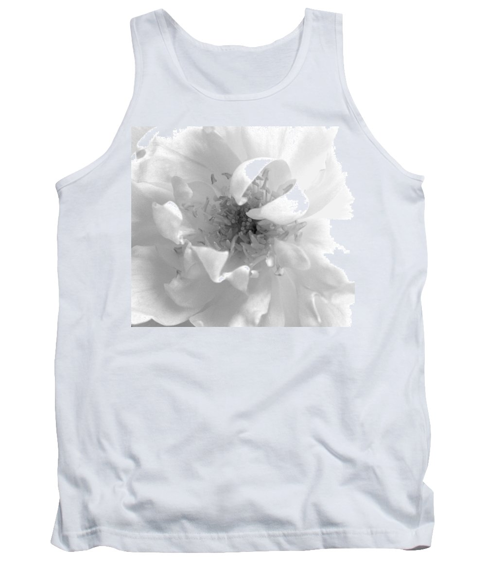 Black And White Tank Top featuring the photograph Soft White by Marna Edwards Flavell