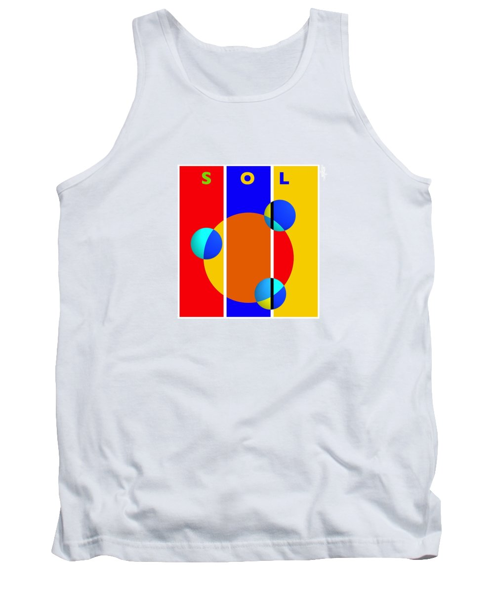 Primary Colors Tank Top featuring the painting Solar Style by Charles Stuart
